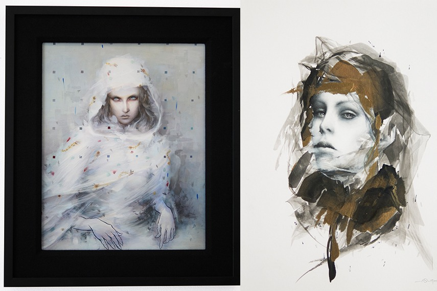 Left: Dan Quintana - Ghost Notes / Left: Dan Quintana - Grains charcoal oil angeles instagram contact