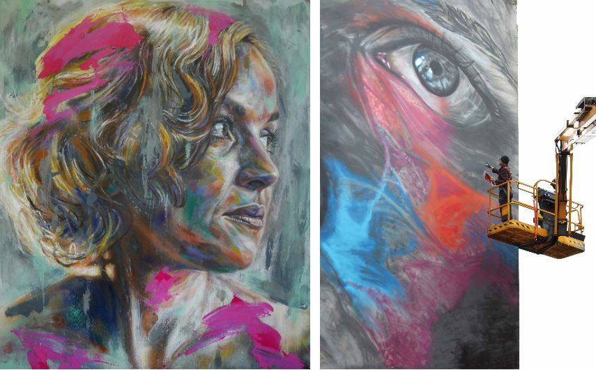 A portrait titled Becky and Boulogne and by David Walker