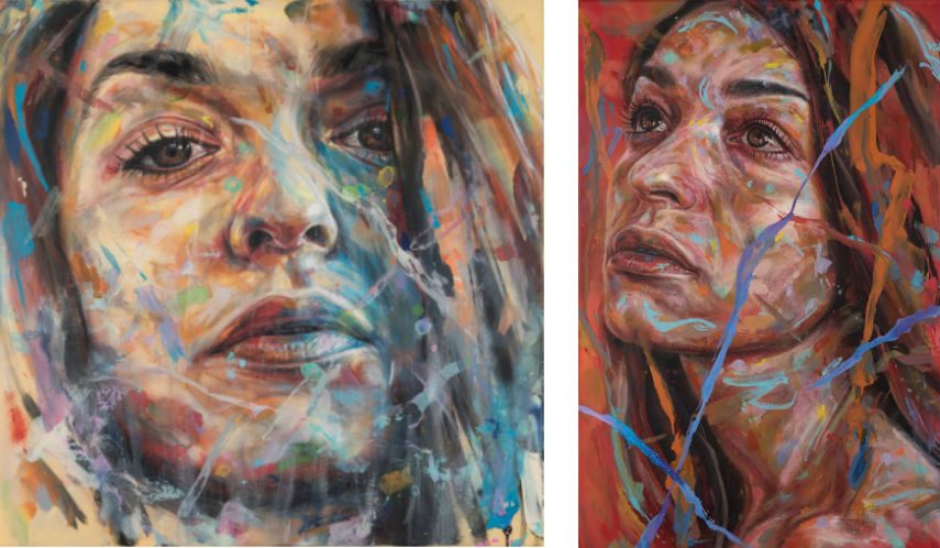 David Walker is using mixed techniques for portraits such as Yuli
