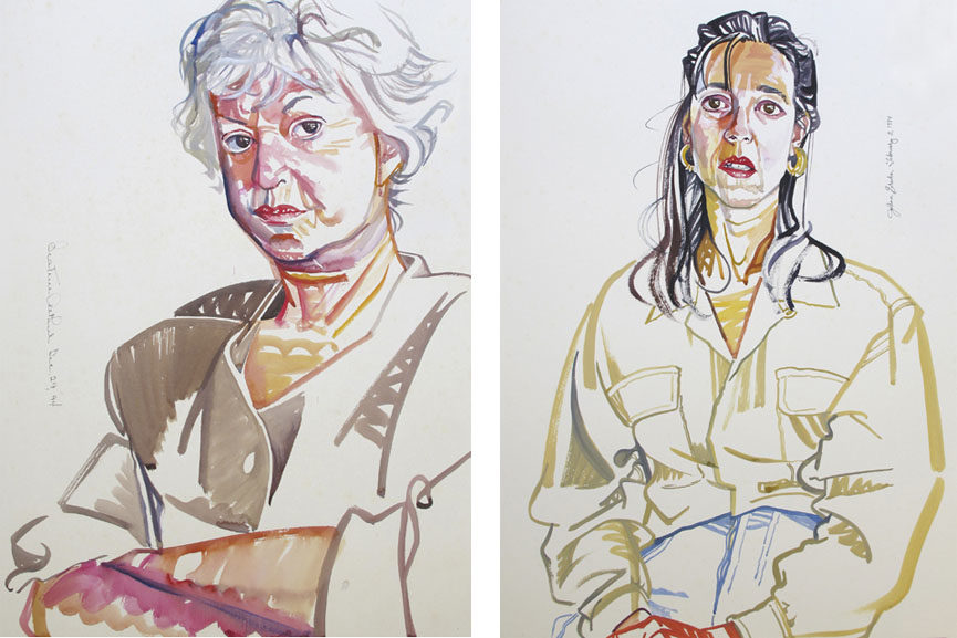 Left Don Bachardy - Bea Arthur, 1994 Right Don Bachardy - Johann Erickson, 1994