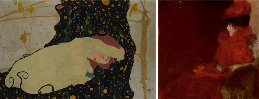 Left Egon Schiele Right Gustav Klimt