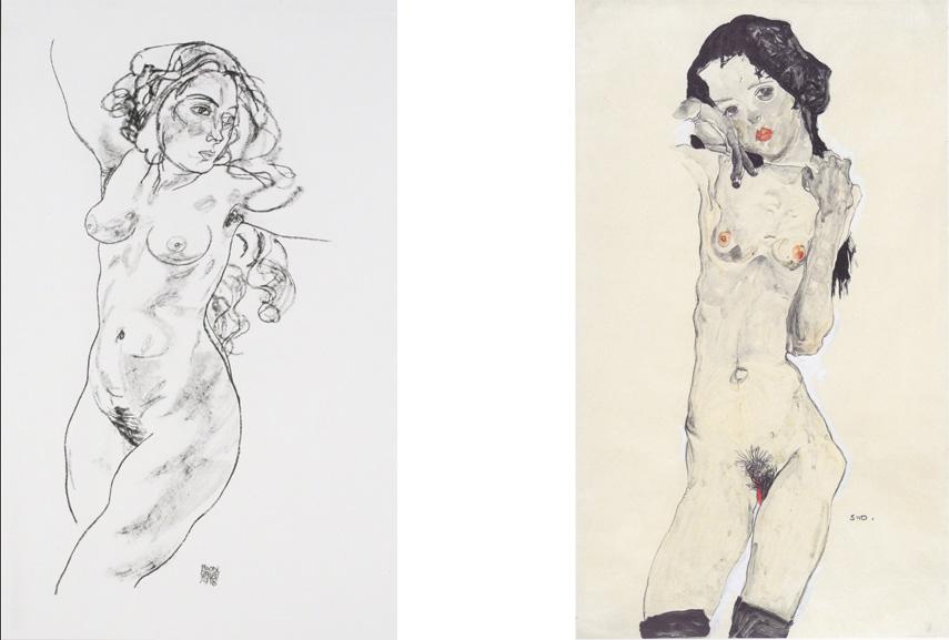 young leopold self arts paintings modern post expressionism expressionist egon shiele portrait woman klimt austrian gustav work contact schiele's