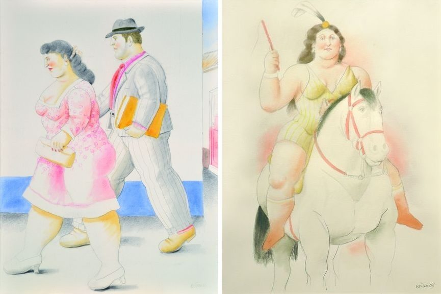 Left Fernando Botero - The Street, 2010 Left Fernando Botero - Right Woman on the Horse