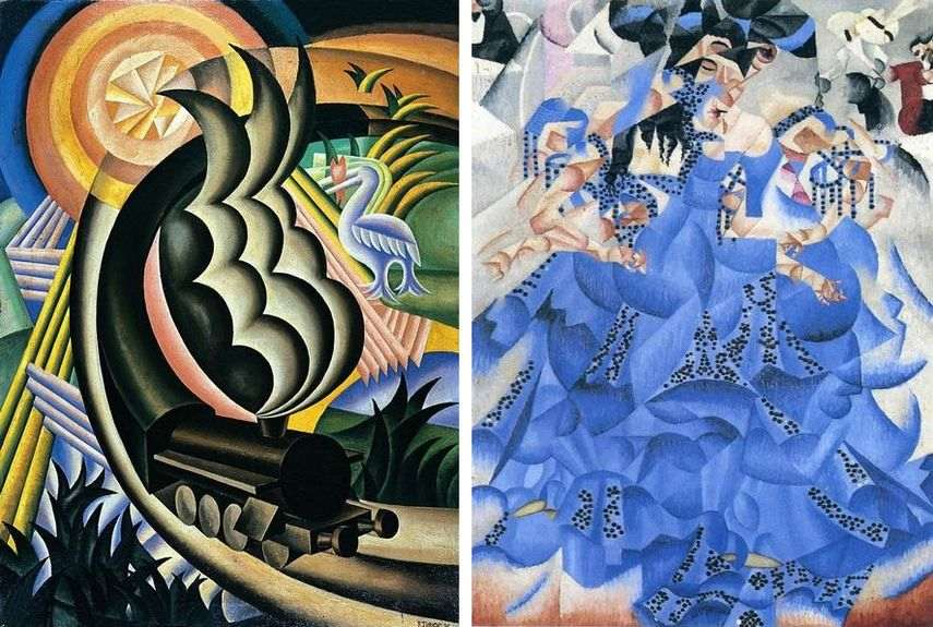 the biggest collection of futurist arts have been exhibited at guggenheim museum in 2014 and 2016