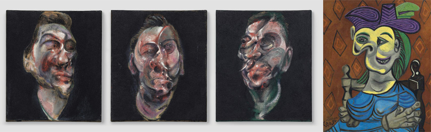 Left Francis Bacon Right Pablo Picasso