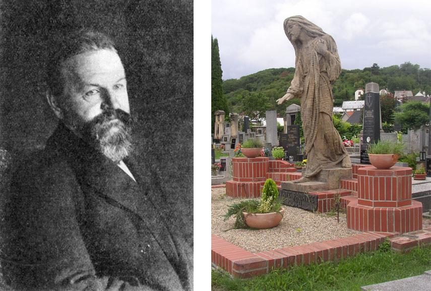 Left: František Bílek portrait / Right: František Bílek - Christ