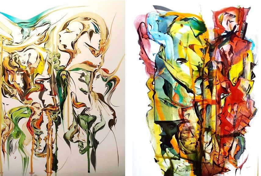 Left Goran Makeski - Evolution Right Goran Makeski - Refugees