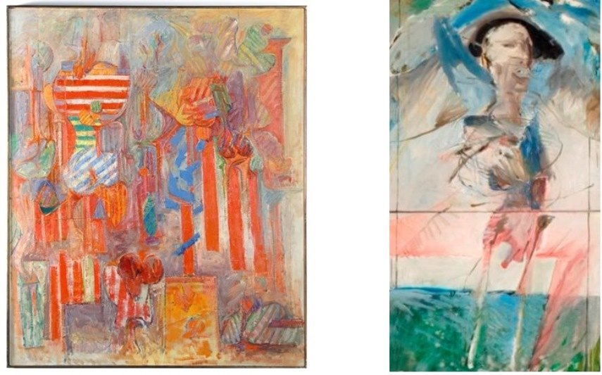 Left: 60 x 50 inches, JRFA #HBO685
