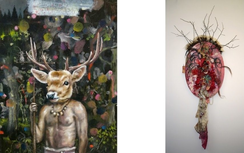 Left Heiko Muller - Shaman. 2015 Right Elizabeth Shupe  - The Witch,  2014