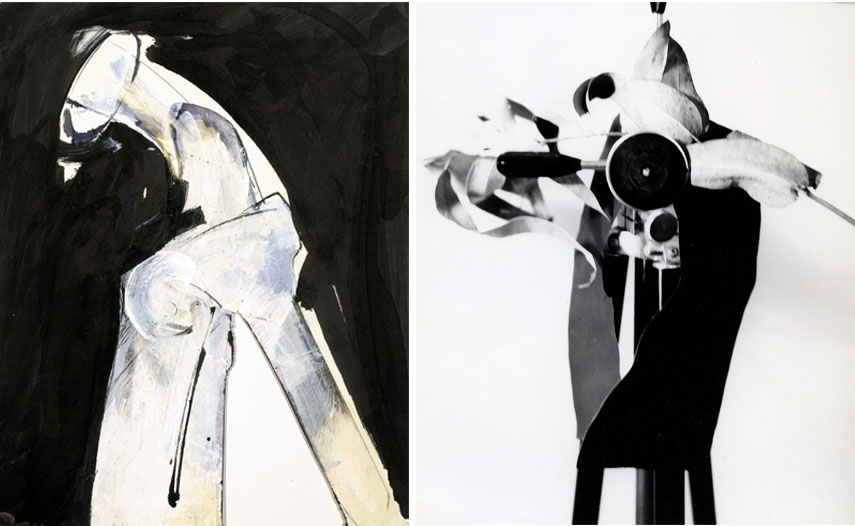Left: J DeFeo - Untitled  Tripod series, 1990 / Right: J DeFeo - Untitled, 1988. Courtesy Galerie Frank Elbaz