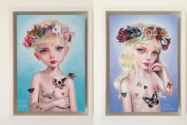 Pop Surrealist Portraiture by Julie Filipenko - On View at Haven Gallery
