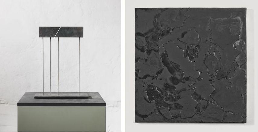 Jurgen Heinz Sculpture, Volker Behrend Peters - Ohne Titel, Paraffin auf Leinwand, 2017