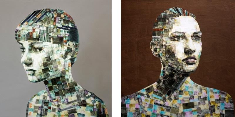 Left Nick Gentry - Design of Desire, 2015, Right Nick Gentry - Autumn, 2015, disks