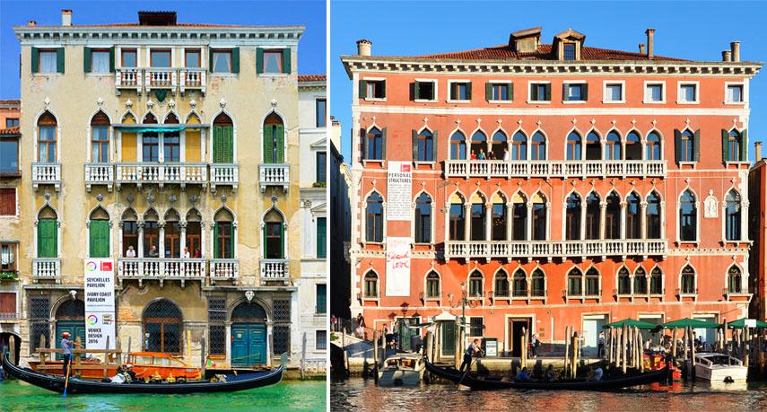 view page Left Palazzo Michiel Right Palazzo Bembo