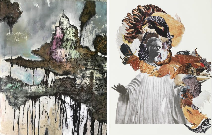 South african artist victor work on view at 154