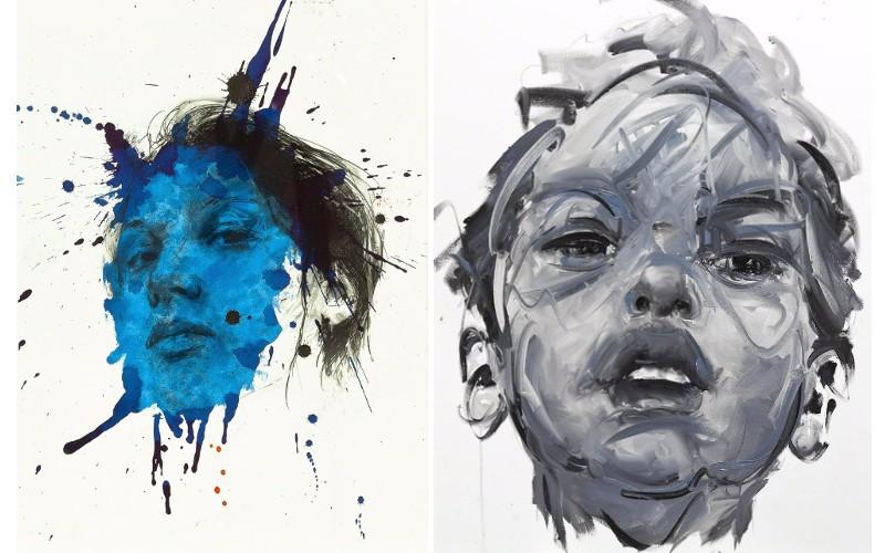 Left Philippe Pasqua - Constance, 2011, Right Philippe Pasqua - Untitled, 2012