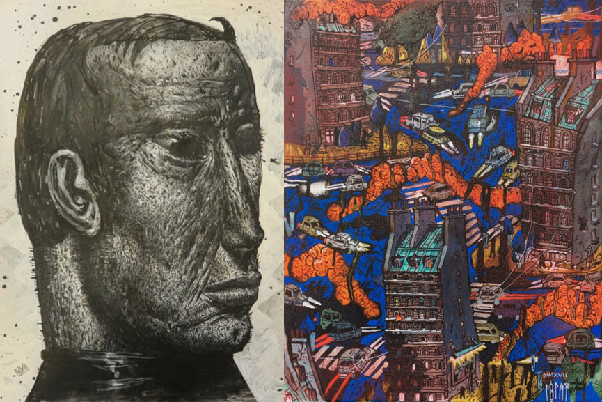 Left Popay - Günther, 2016 Right Popay - Agent Orange, 2017