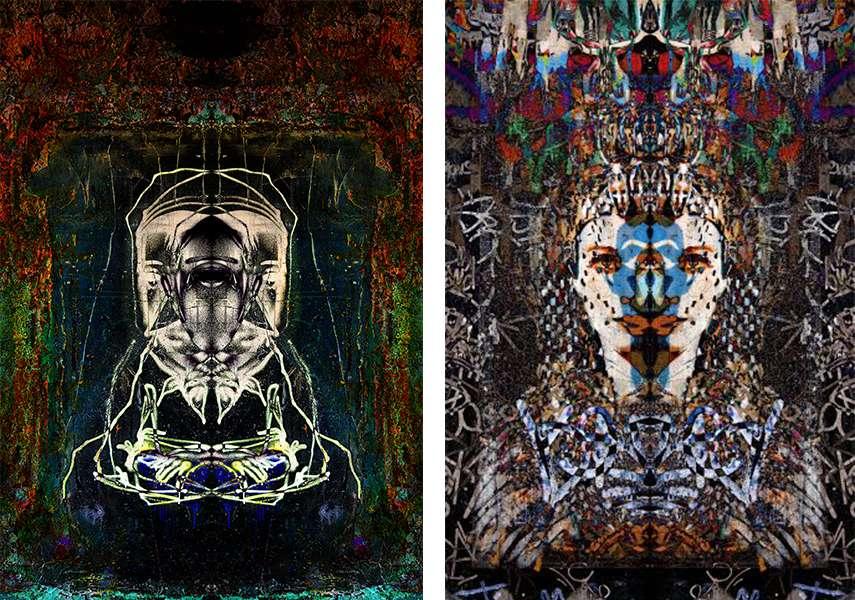 Left - Roman Koenig - Recessed Portrait, 2015 - Right - Roman Koenig - Memories of Egypt, 2016