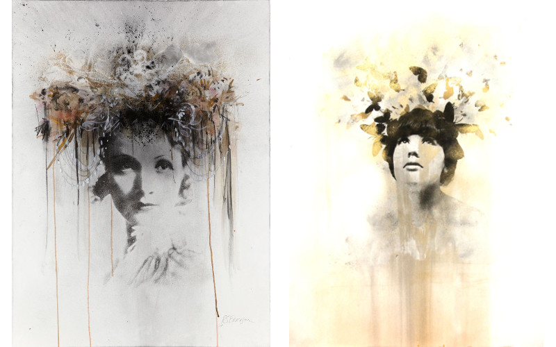 Left Rosie Emerson - Marlene Dietrich No 5, 2013, Right Rosie Emerson - The Gatekeeper, 2014