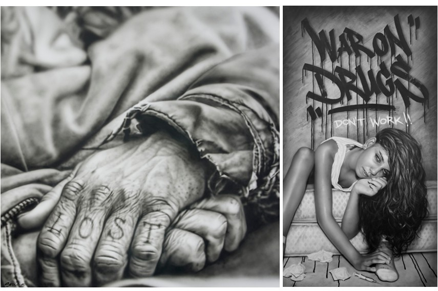 Left : Sick Crew - Lost Right : Sick Crew - War on Drugs Don't Work