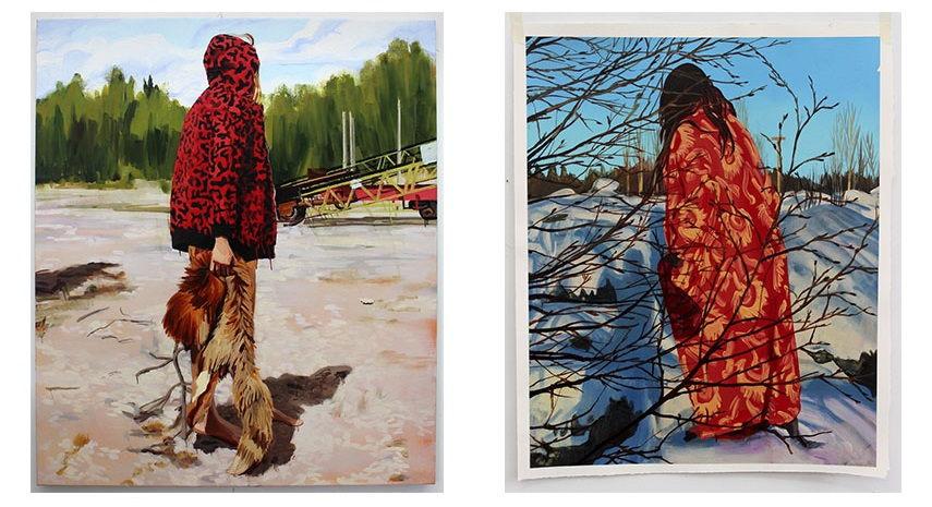 Left: Sara-Vide Ericson - Dead Wait, 2015 / Right: Sara-Vide Ericson - Walking, 2015