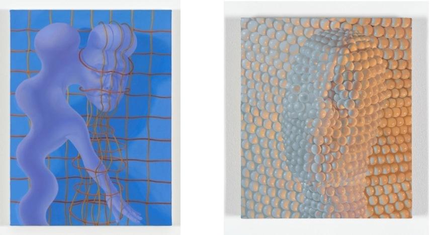 Left: 81.3 x 61 cm. (32 x 24 in.) / Right: 17.5 × 15 in. (44.45 × 38.10 cm.)