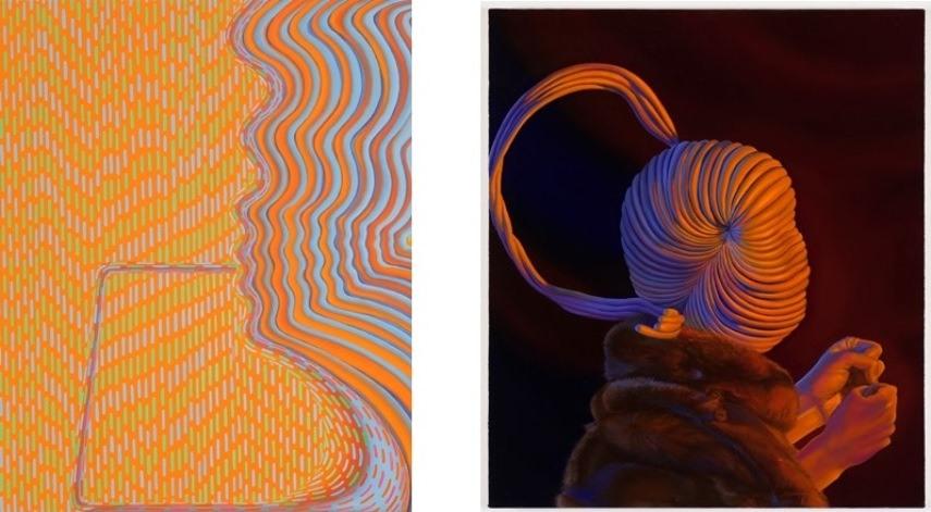 Left: 50.8 x 40.6 cm. (20 x 16 in.) / Right: 71.1 x 61 cm. (28 x 24 in.)