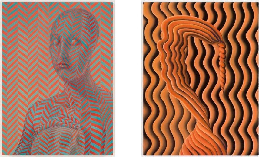 Left: 66 x 48.3 cm. (26 x 19 in.) / Right: 61 x 45.7 cm. (24 x 18 in.)