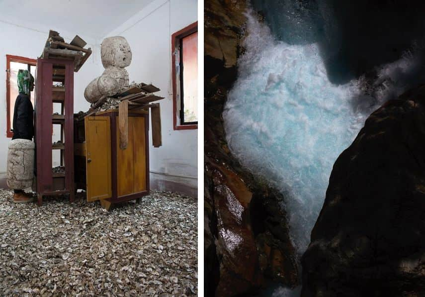 Sculptural Intervention, Torrent, from the series Peaks of Present