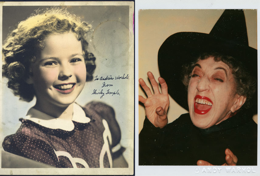 Left Shirley Temple, 1941, The Andy Warhol Museum, Pittsburgh Right Andy Warhol, Witch, 1980