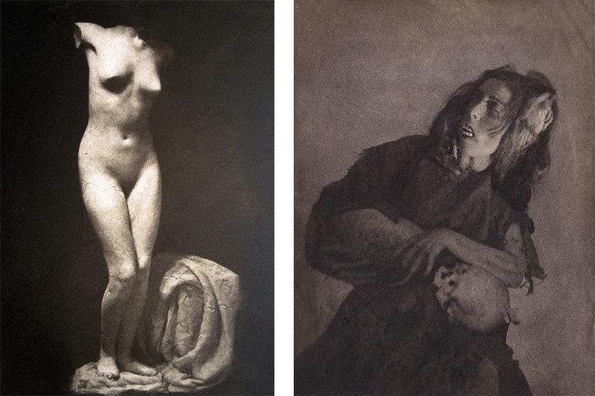 Left William Mortensen - Fragment Right William Mortensen - Woman with Skull