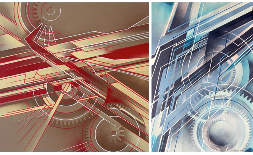 Left : Xavier Magaldi - Cris Time / Right : Xavier Magaldi - Mecafuturism