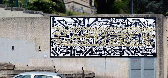 Lek & Sowat - Le mur Saint Etienne, France, 2015, Pic by Ben Rch