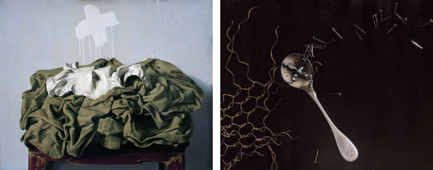 Leng Jun - Mask, 1992 (Left) / Spoon and Networks, 2002 (Right)