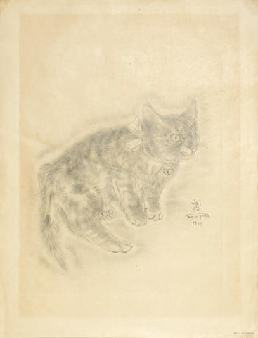 Tsuguharu Foujita-Somilis, from A Book of Cats-1929