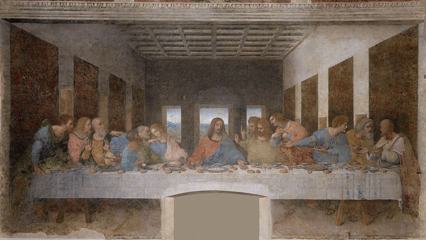 Leonardo da Vinci - Il Cenacolo, 1495-1498. Image via Wikipedia. Another one of the most influential painters was raphael, who later had a great impact on contemporary artists