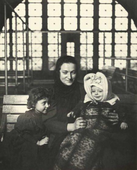 An Ellis Island Madonna (Russian Family)-1905