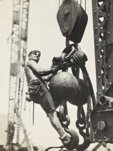 Lewis Wickes Hine-Riding The Ball High Up On Empire State-1930