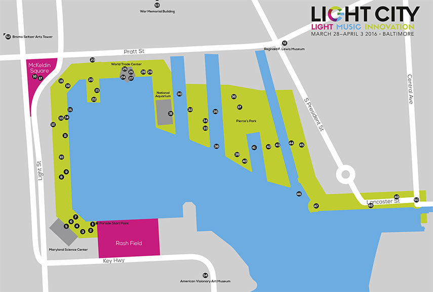Light Festival Baltimore baltimore 2016 innovation music arts harbor march visit office international baltimore music