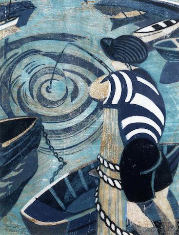 Lill Tschudi-Fishing Boy-1950