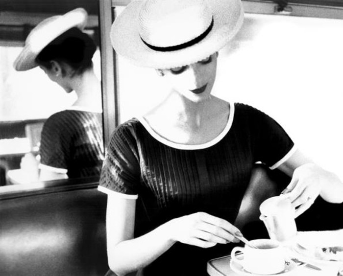 Lillian Bassman - Carmen having tea, circa 1950
