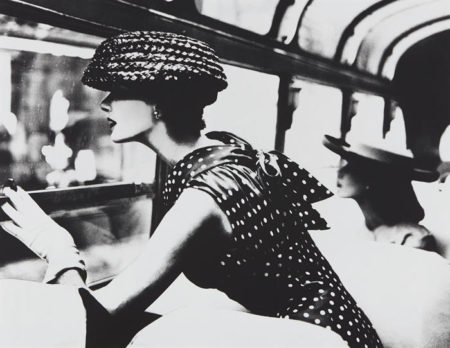 Lillian Bassman-More Fashion Mileage Per Dress, Barbara Vaughn, dress by Filcol, New York-1956