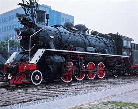 Liu Bolin-Camouflage, Locomotive-2008