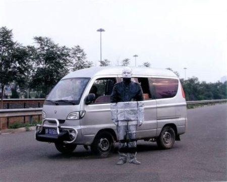 Liu Bolin-Illegal Taxi Driver-2007