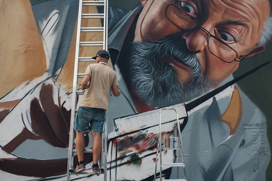 One of the most beautiful murals of the year belongs to Croatian creative Lonac