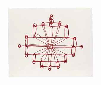 Louise Bourgeois-One plate, from: Crochet Series-1997