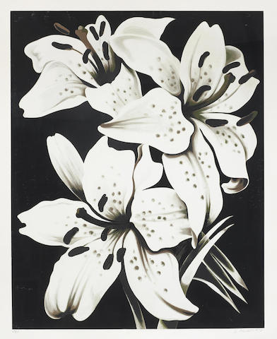 Lowell Nesbitt-White Lilies; Morning Glory-1978