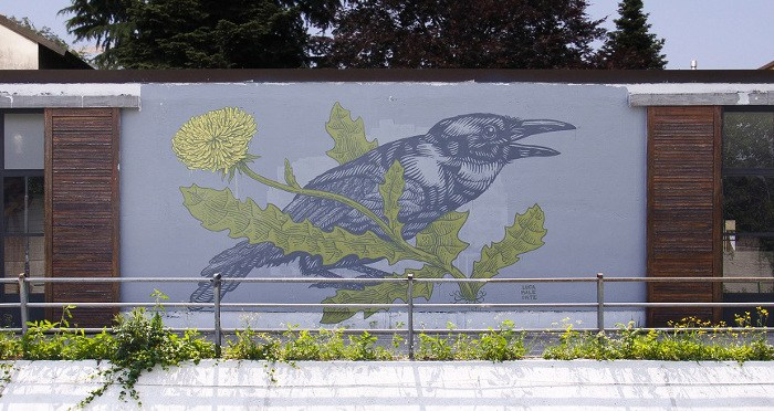 Lucamaleonte - Mural in Monza, Italy, 2015, part of Recover Monza project, photo credits - Il Gorgo, mural, street art, urban art