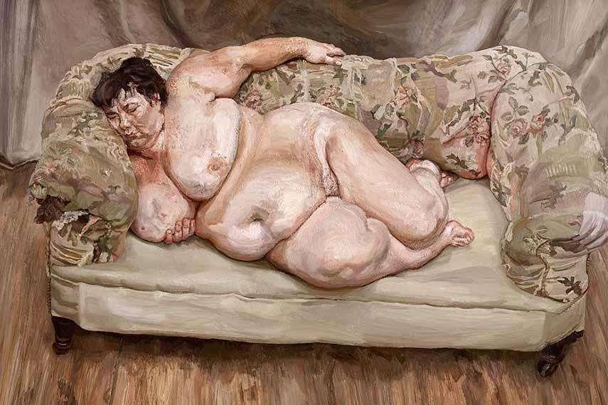 Lucian Freud - Benefits Supervisor Sleeping via huffingtonpost com
