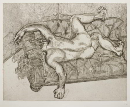 Lucian Freud-Naked Man on a Sofa-1985